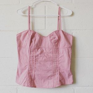 Guess Womens Checkered Bustier Top Size XL
